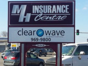 Metal Business Sign in Marion IL